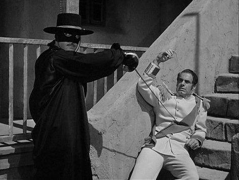 Zorro - Guy Williams and Charles Korvin (The Eagle)