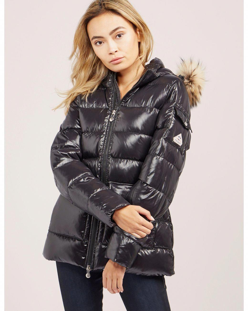 f892230cc Pyrenex   Black Authentic Shiny Jacket   Lyst #Women'scoats ...