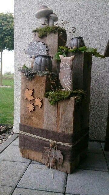 pin von sonja detmers auf basteln pinterest adorno jardin madera und decoracion oto o. Black Bedroom Furniture Sets. Home Design Ideas