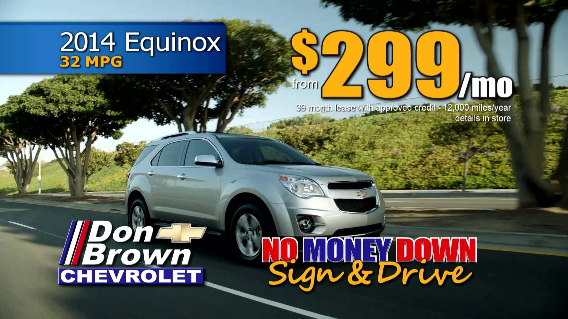 Limited Time Sign Drive Offer At Don Brown Chevrolet Chevrolet Driving 2014 Equinox