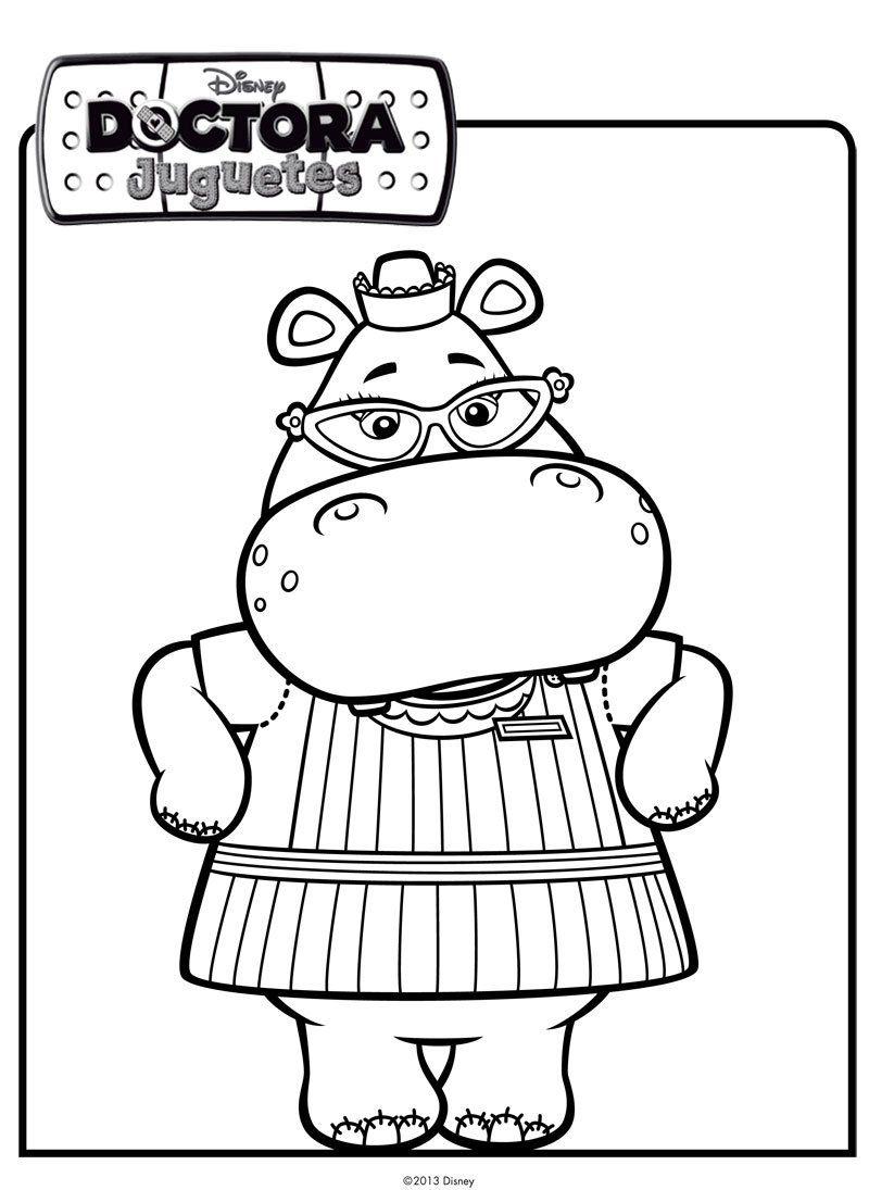 Dibujo de la hipoptamo de Doctora Juguetes para pintar  Cumple 2