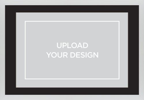 Upload Your Own Design Framed Print, White, Contemporary, Cream, Black, Single piece, 20 x 30 inches