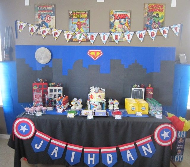 Vintage Superhero Party #vintage #superheroparty