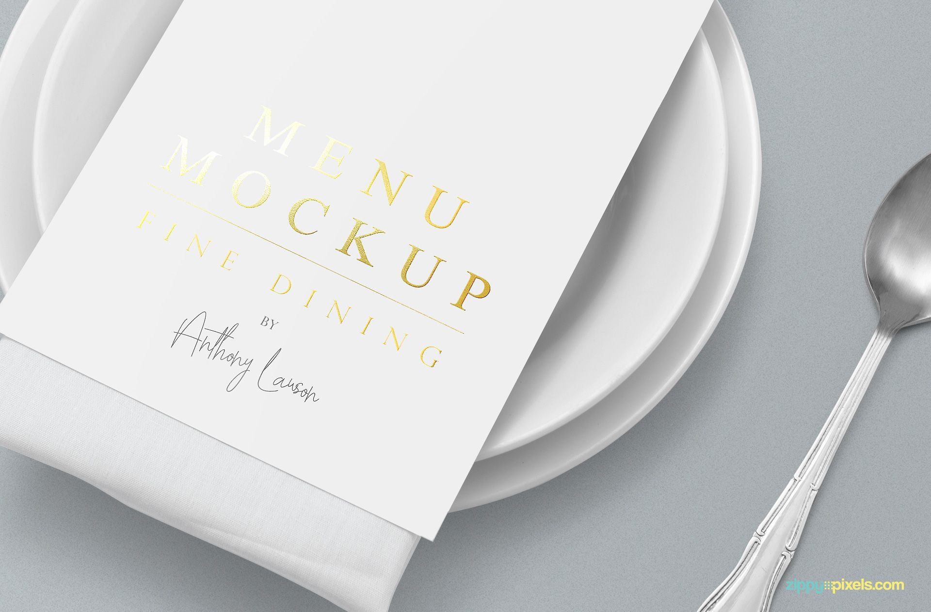 Customizable Menu Mockup Free Psd Scene Menu Card Design Mockup