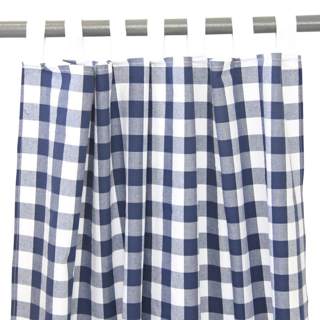Navy Gingham Curtains Products Pinterest Gingham
