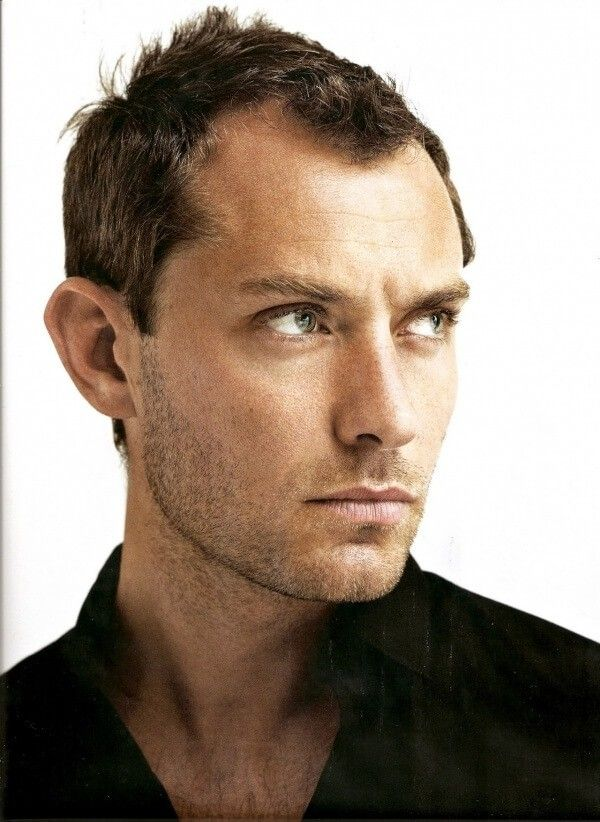 Attractive Receding Hairline Jude Law Hairstyle
