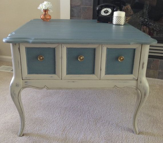 Refurbished Vintage Queen Anne Style Side Table By DTIFurniture, $99.00