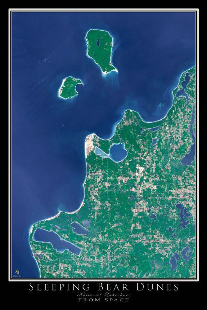 Sleeping Bear Dunes National Lakeshore Michigan Satellite