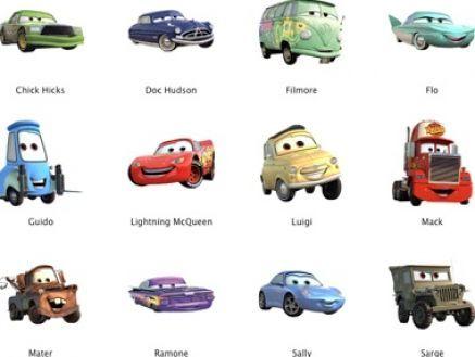 Cars Characters Names Cars Character Names All Things Kids