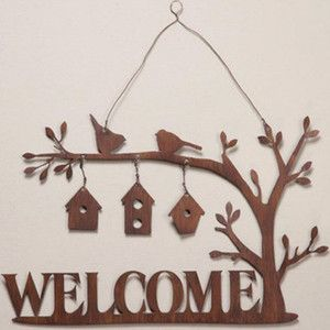 Metal Bird Welcome Sign :: Garden :: Signs :: For the Home ...
