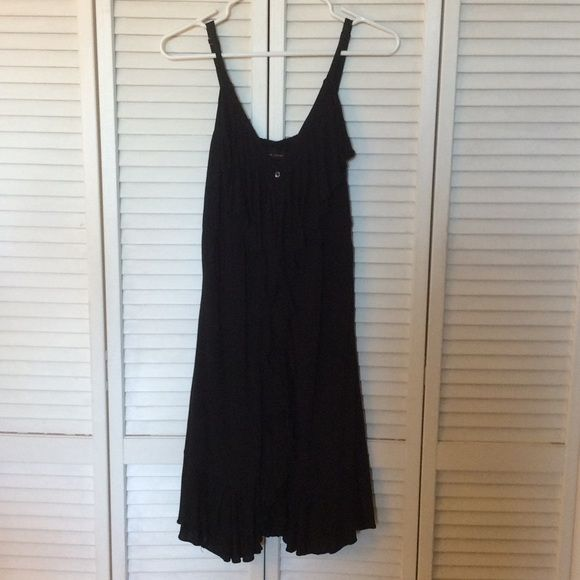 New York & Company Black Dress Very cute lightweight black dress.  Cute fringe detail down front and 3 buttons (just for decoration). New York & Company Dresses