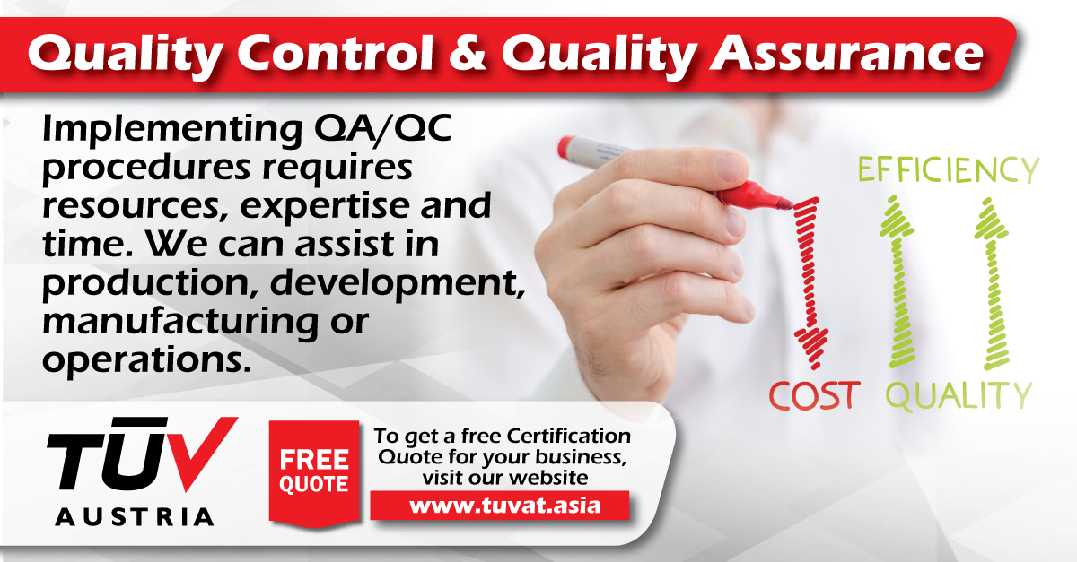 TUV Austria Quality Control and Quality Assurance Services. No compromise of quality and safety. For further queries how we can assist you: tuvat.asia/get-a-quote, or call Pakistan: +92 (42) 111-284-284 | Bangladesh +880 (2) 8836404 | Sri Lanka +94 (11) 2301056 to speak with a representative. #ISO #TUV #certification #inspection #pakistan #bangladesh #srilanka #lahore #karachi #colombo #dhaka #quality #assurance #control