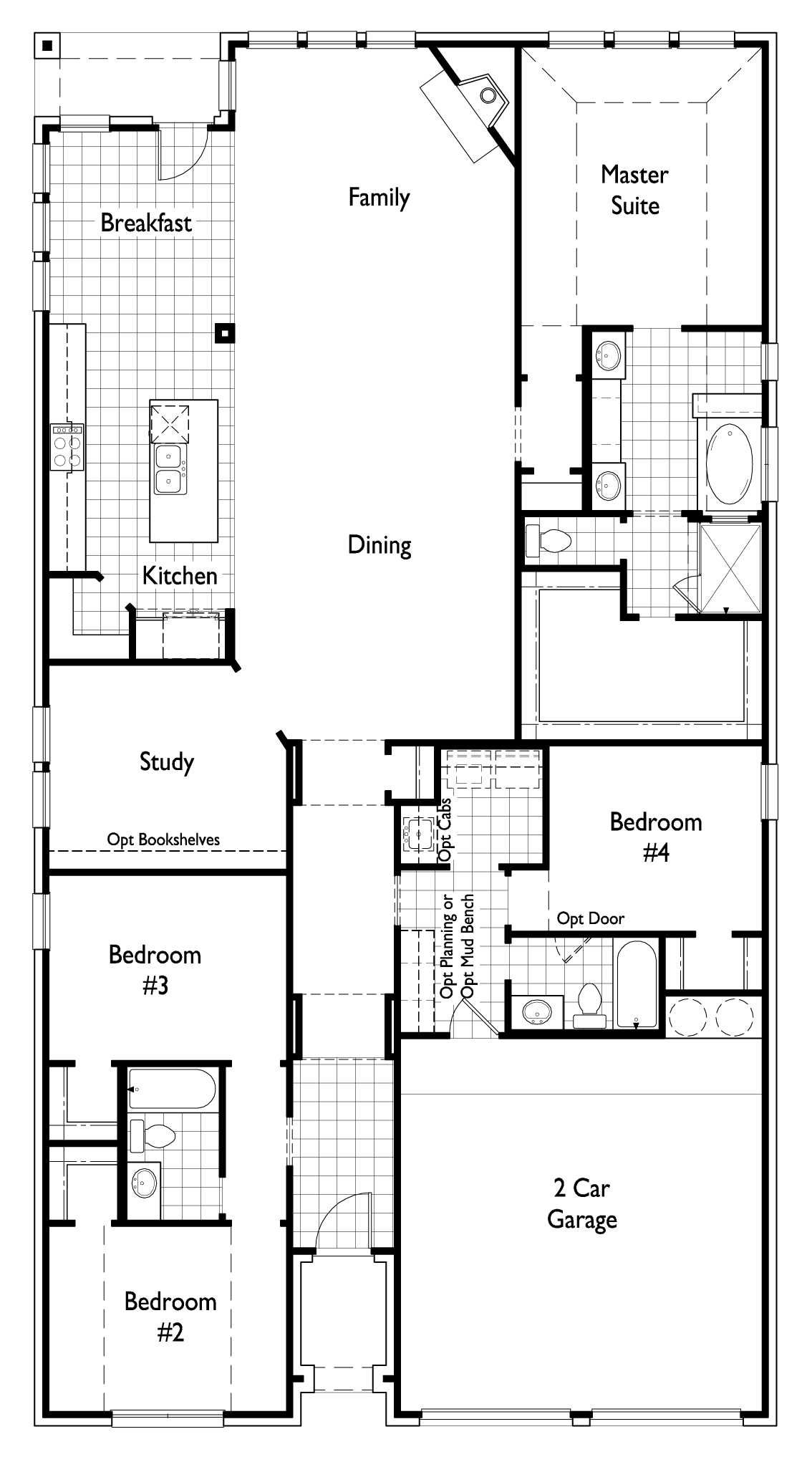 Downstairs Floor Plan Of Highland Homes Plan 539 At