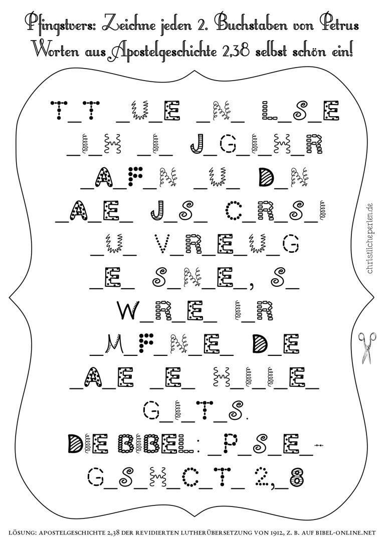 ausmalbilder zur bibel  christliche perlen  pfingsten