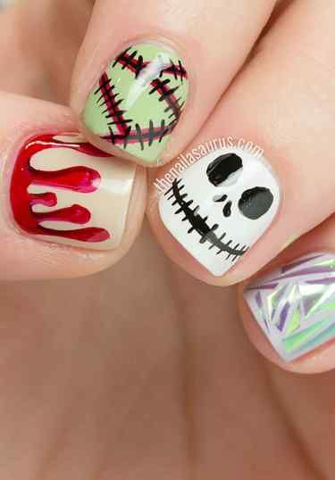 Halloween Nails Easy Step By Step Diy Best Of 15 Halloween ...