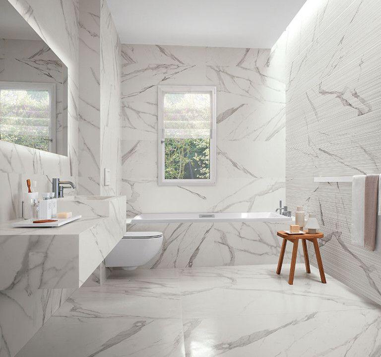 Bad modern gestalten mit licht pinterest marmorfliesen b der und lichtlein - Marmorfliesen bad ...