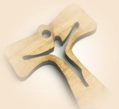 Campione gratuito Croce in legno offerta da Fondazione Opera Diocesana Patronato S. Vincenzo