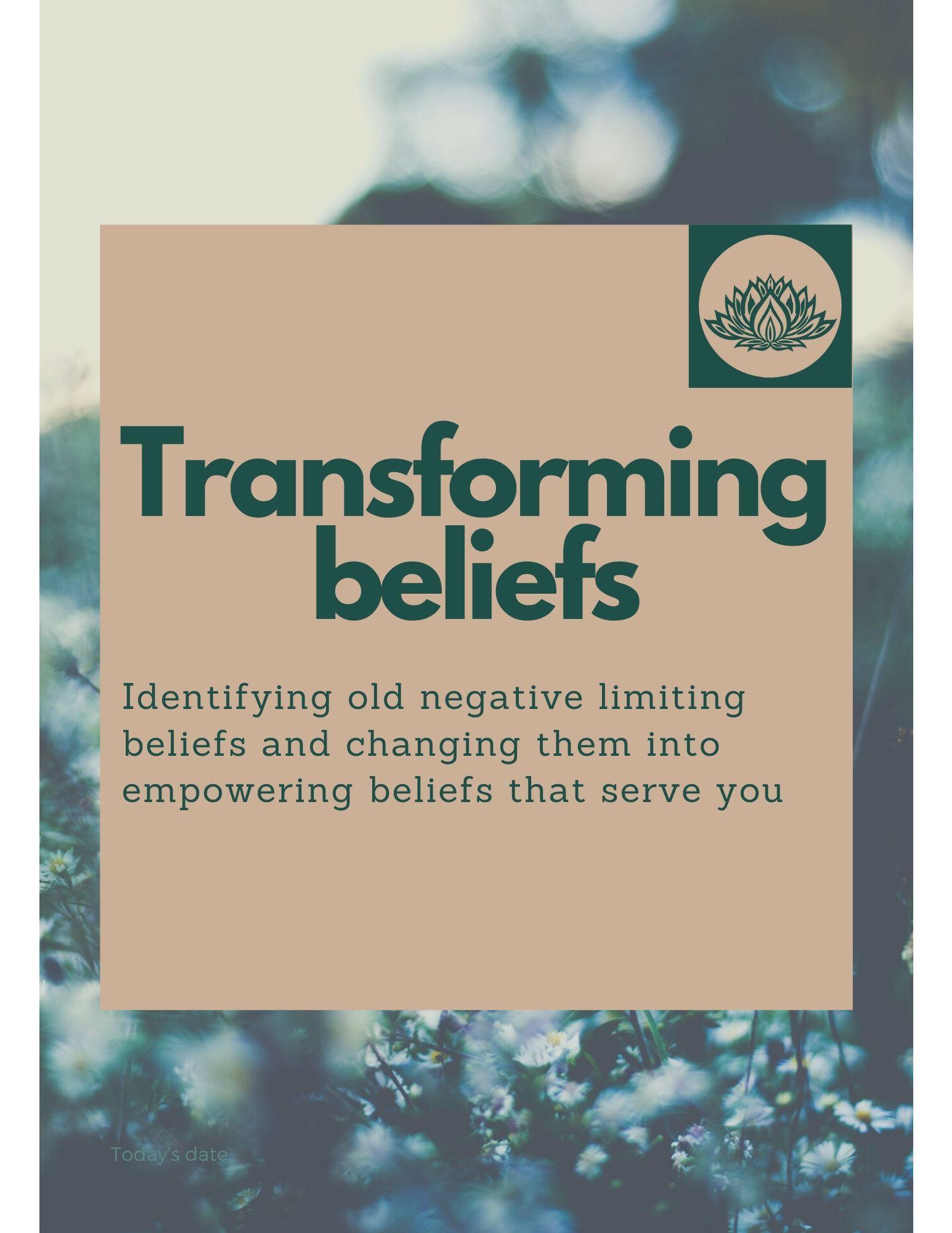 Transforming Your Limiting Beliefs Worksheet In