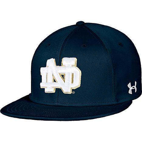 5d2407a7f Team Hat: Under Armour University of Notre Dame Baseball Flat Bill ...