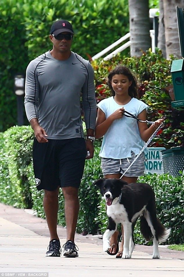 tiger woods with his kids in miami amid custody rumors