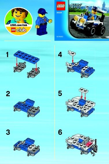 30228 1 City Police Atv Lego 30228 Lego Instructions