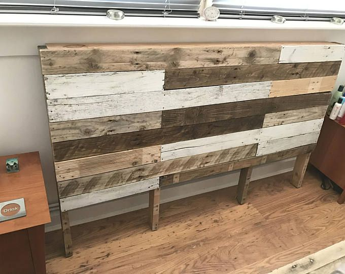 Rustic Reclaimed Pallet Wood Chevron Headboard - Local pick up only ...