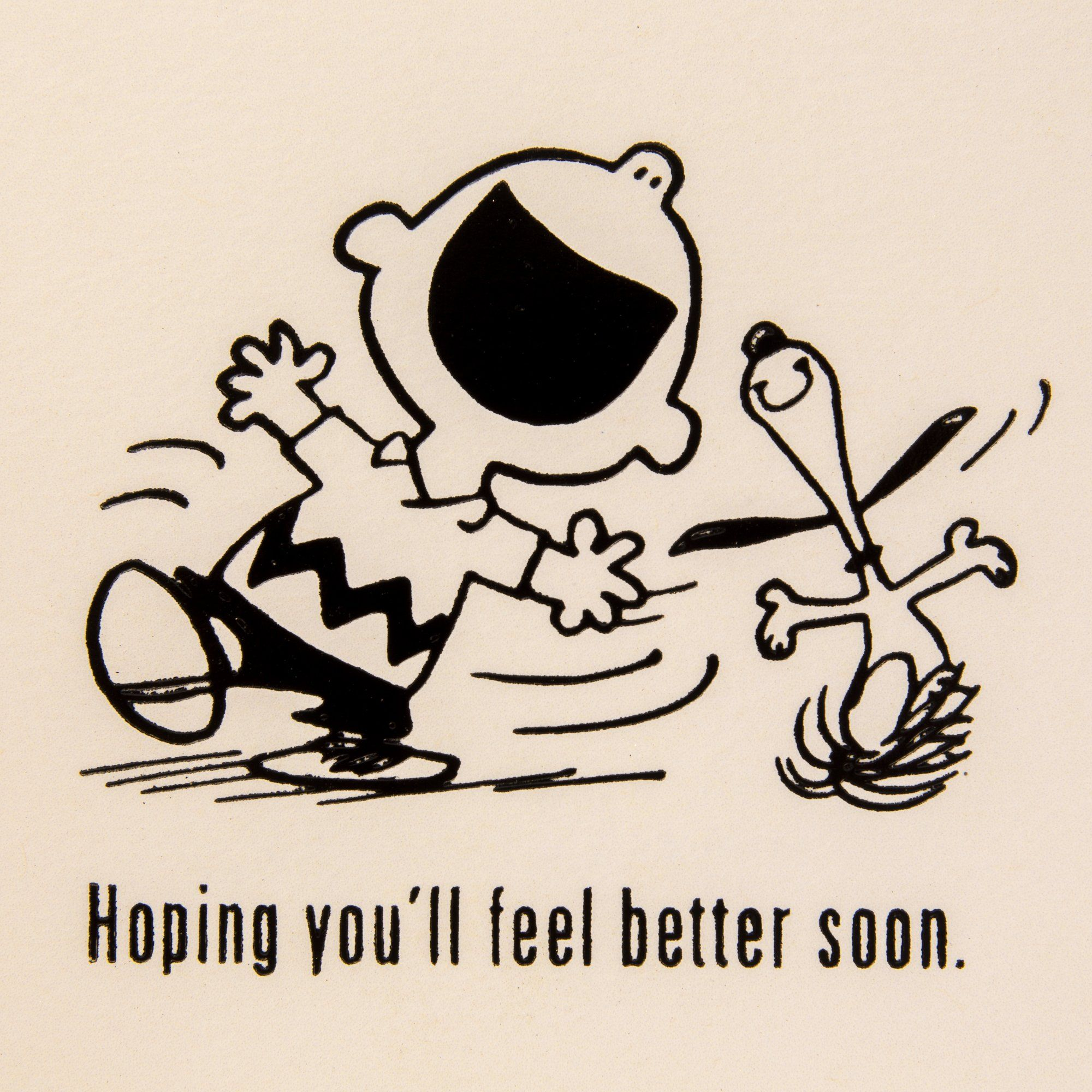 Hallmark Get Well Greeting Card Snoopy and Charlie Brown Sending
