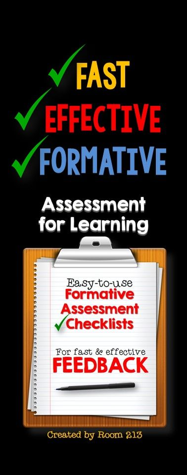 Assessment for Learning Easy-to-use Checklists for Fast - formal assessment