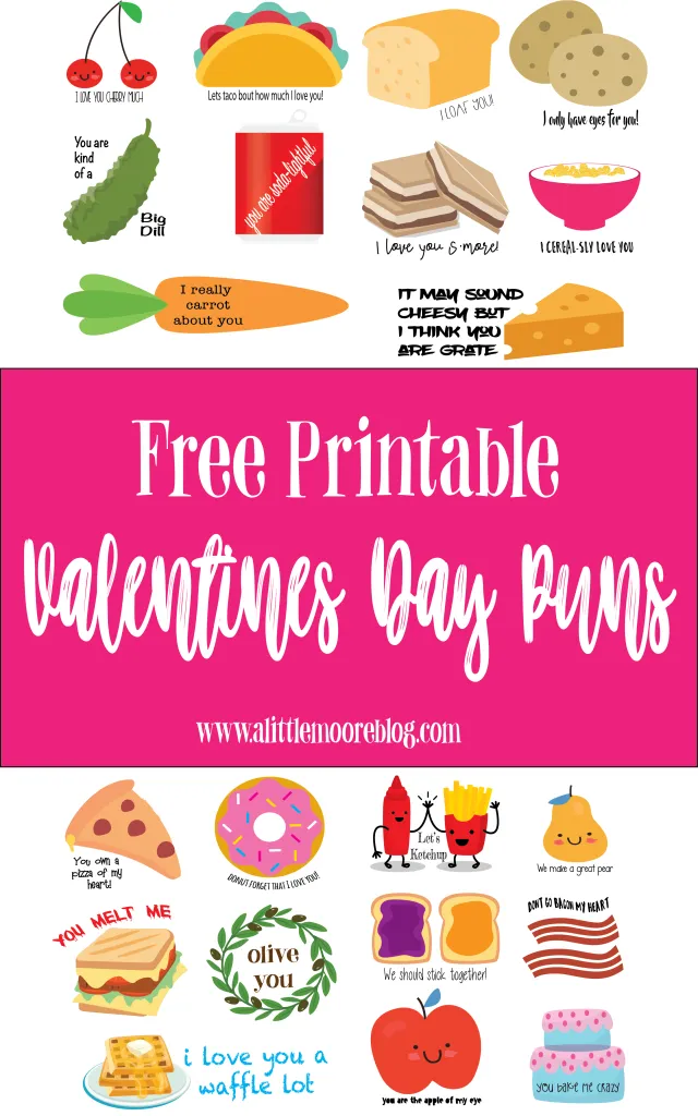 Free Printable Valentines Day Punny Cards to print and share
