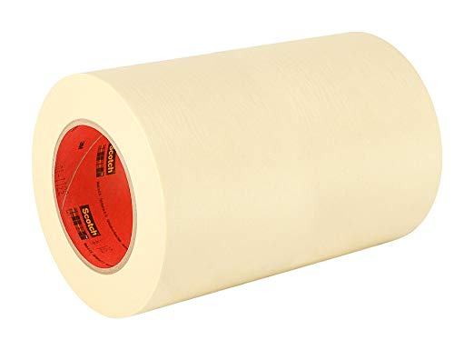 3m General Use 201 Masking Tape 10 In W X 180 Ft L Crepe Masking Tape Roll With Solvent Free Rubber Adhesive In 2020 Rubber Adhesive Masking Tape Paper Tape