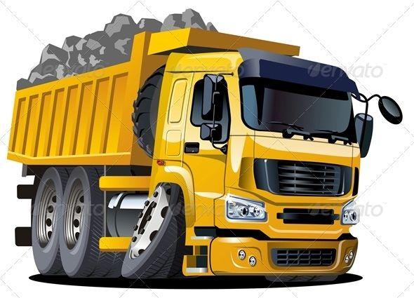 Vector Cartoon Dump Truck Dump Trucks Trucks Classic Chevy Trucks