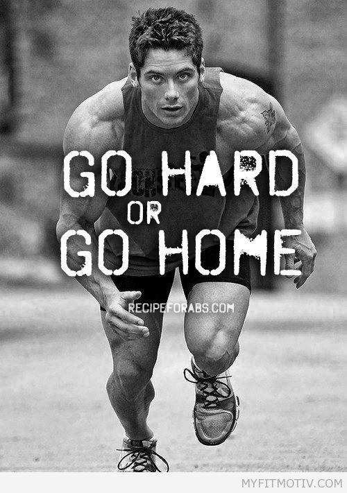 Go hard  - http://myfitmotiv.com - #myfitmotiv #fitness motivation #weight loss #food #fitness #diet #gym #motivation