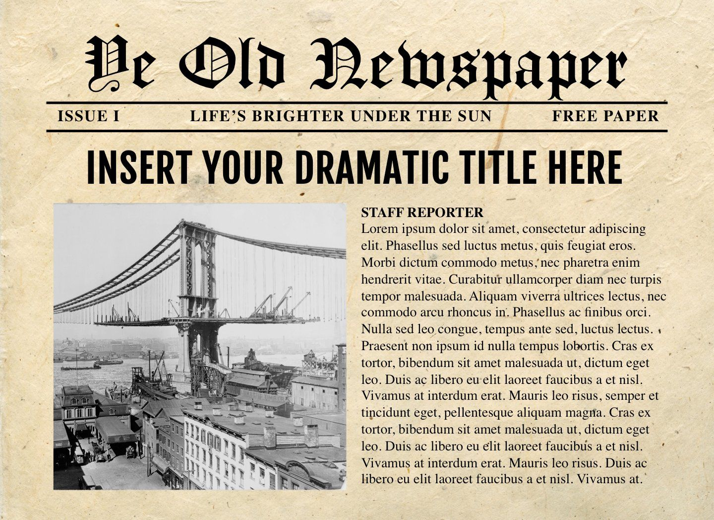 Powerpoint Newspaper Templates Newspaper Template Newspaper