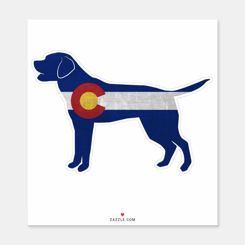 Labrador Retriever Dog Breed Colorado Flag Sticker Zazzle Com In 2020 Labrador Retriever Dog Labrador Retriever Retriever Dog
