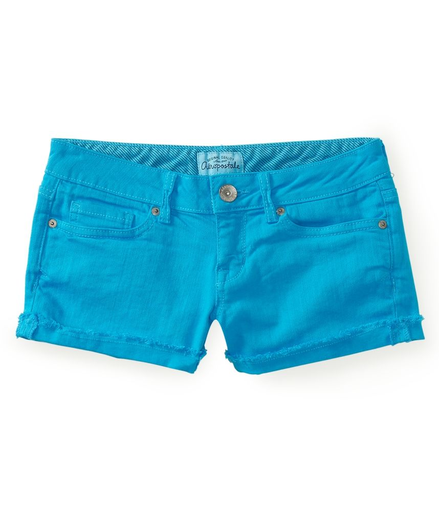 Aeropostale womens colored denim shorty shorts | Colored denim ...