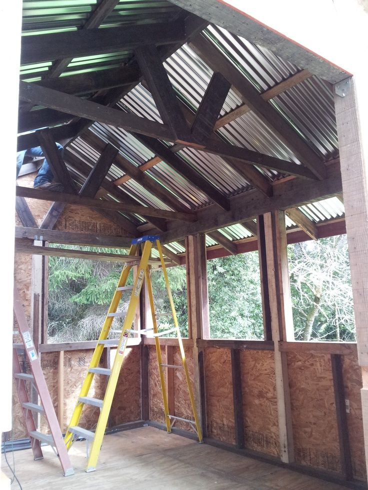 Things For The Lakehouse Fibreglass Roof Roofing Diy Flat Roof Shed