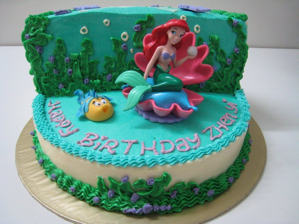 Image of The Little Mermaid Birthday Cake Topper Party Fun