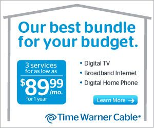 Tv And Internet Providers >> Time Warner Cable Triple Standard Tv Basic Internet Bundle