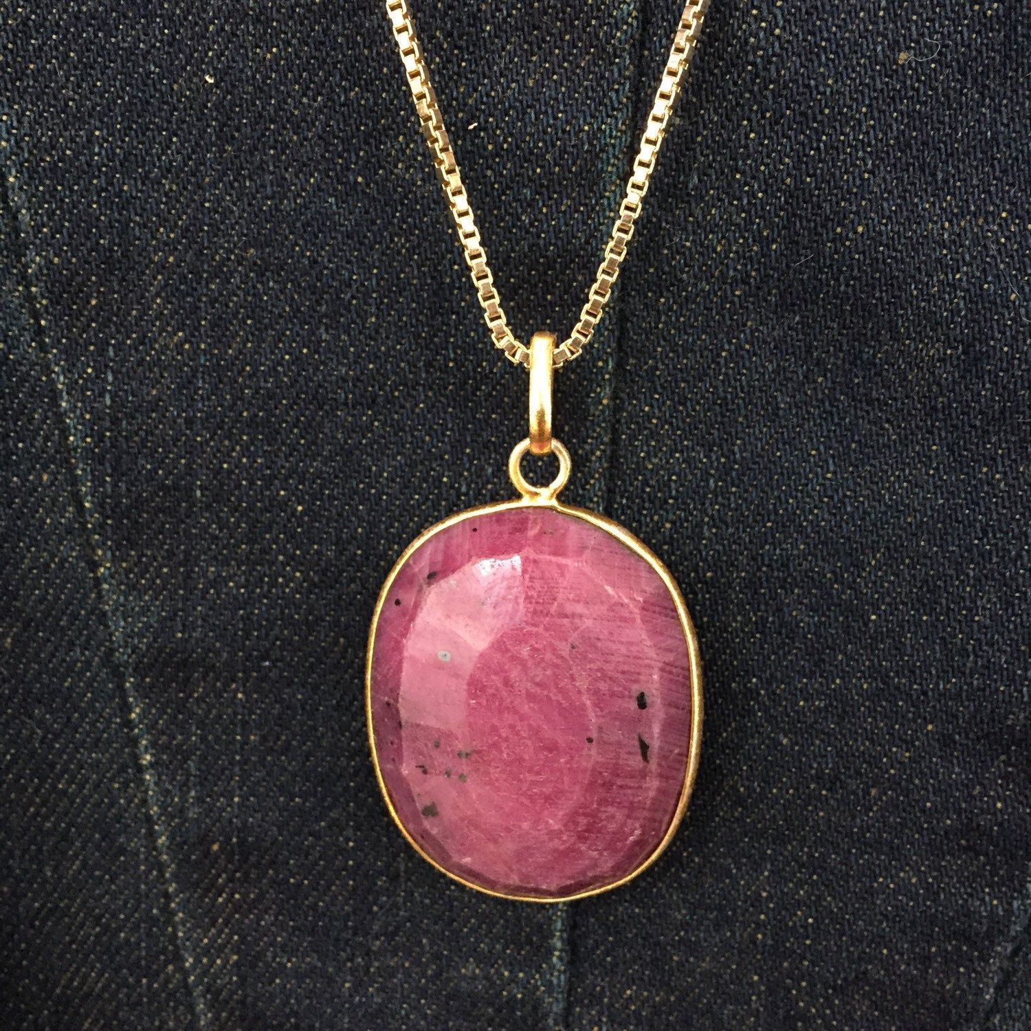 A personal favorite from my Etsy shop https://www.etsy.com/listing/260949251/ruby-necklace