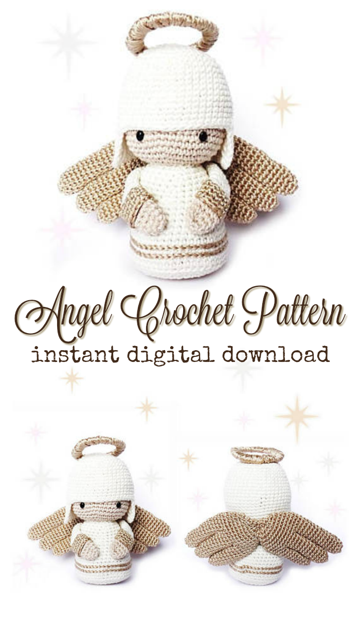 Angel Crochet Pattern pdf download fort this quick to make little ...