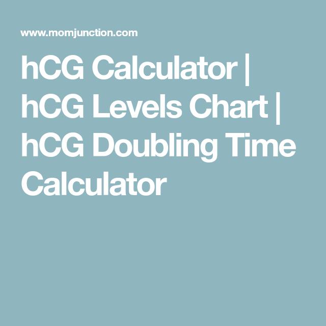 Hcg Calculator Hcg Levels Chart Hcg Doubling Time Calculator