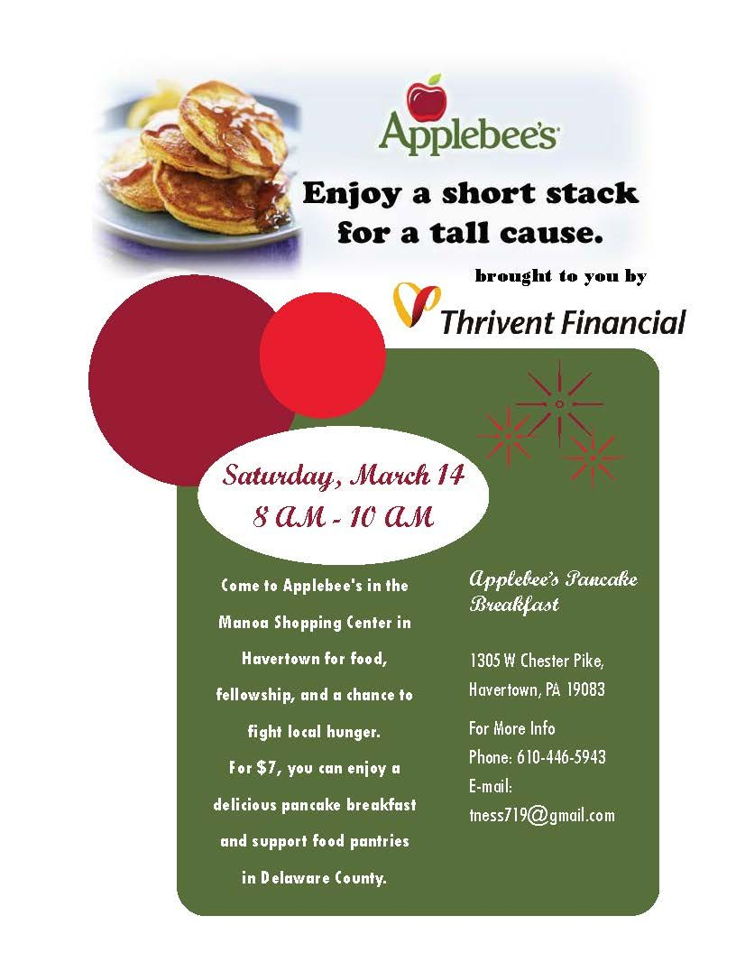 applebess breakfast fundraising flyer delco resources and