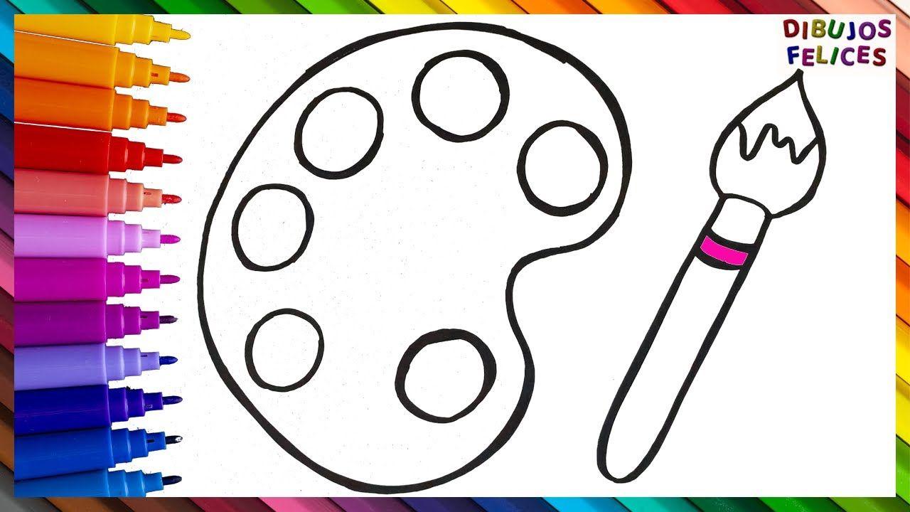 Dibuja Y Colorea Una Paleta De Colores Dibujos De Colores Dibujos Para Ninos Paletas De Pintura