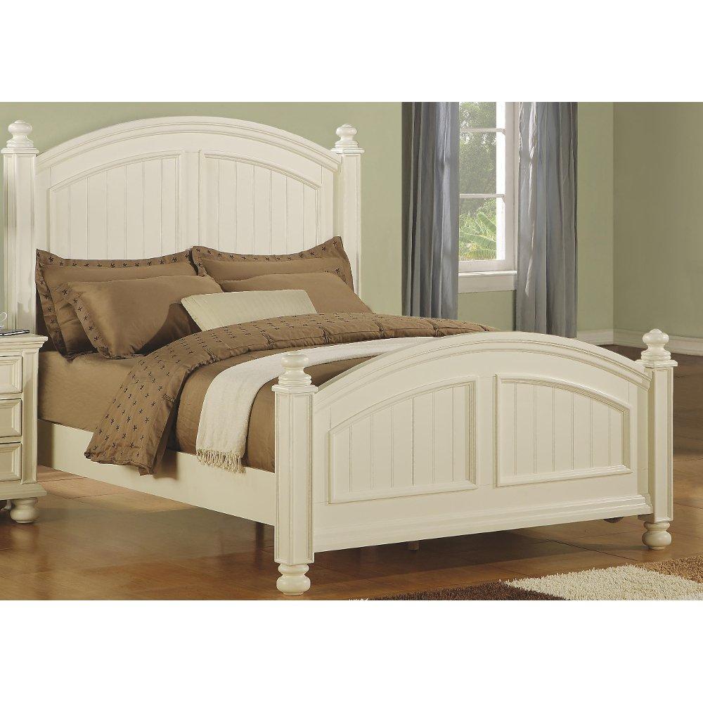 Classic Eggshell White California King Bed Cape Cod RC