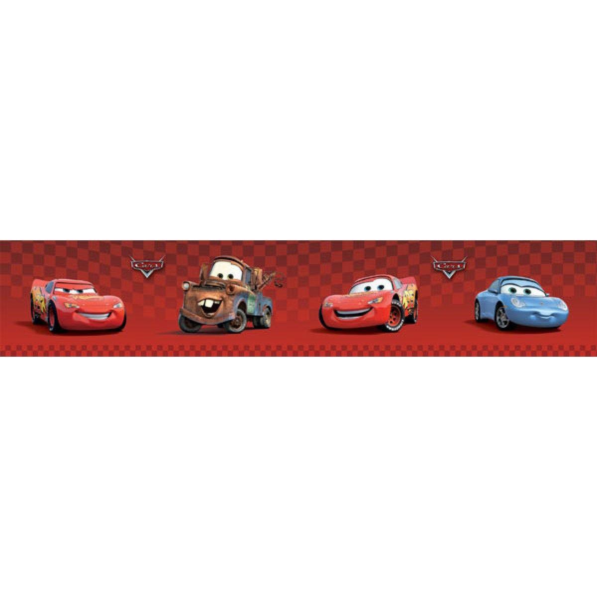 Disney Pixar Cars Wallpaper Border 4 Inch Red Self Adhesive