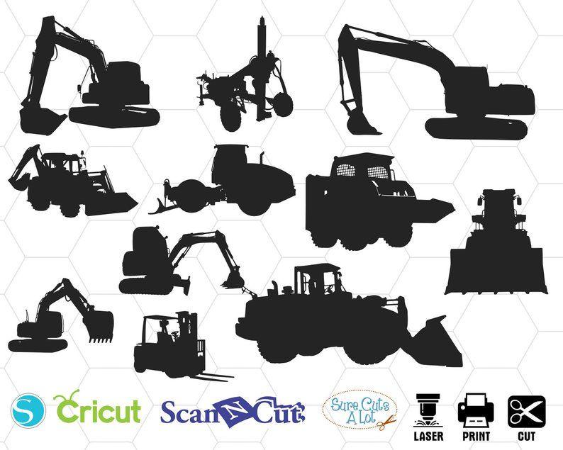 Construction Machines Svg Tractor Svg Construction Svg Dump Etsy Whole Image Svg Silhouette Png