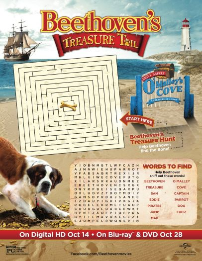 Beethovens Treasure Tail Printable Activity Page