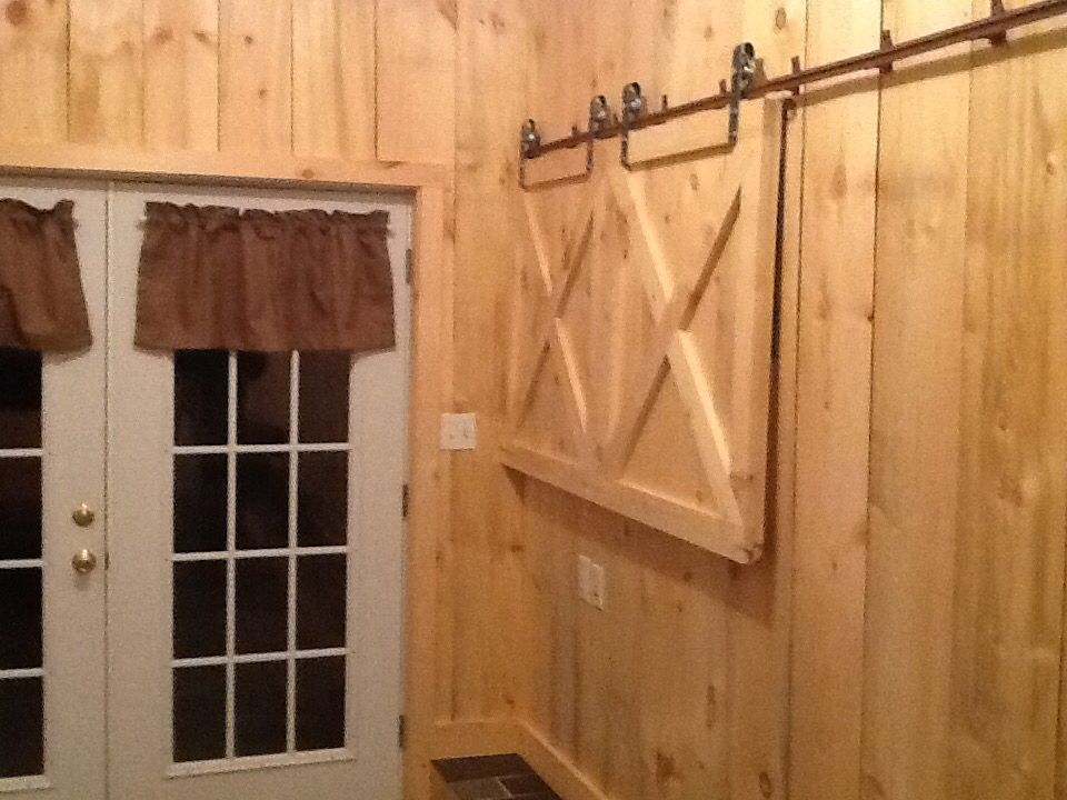 Barn Doors In Our Mud Room To Cover Electrical Boxes Home Fix Electrical Box Cover Barn Door