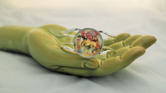 Khaleesi silver cuff hinged bracelet GoT by StoneysUniqueGeek, $10.00