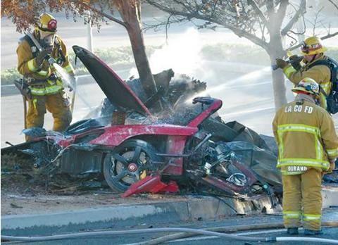 Paul Walker car crash photos